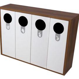 mueble reciclaje cuadruple