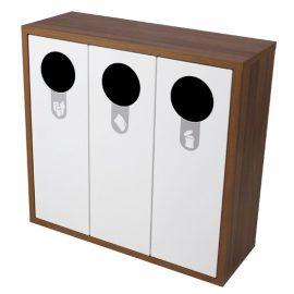 mueble recogida selectiva triple
