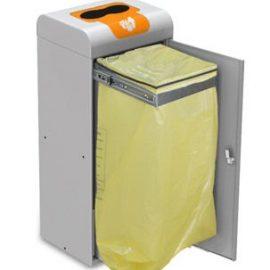 papelera reciclaje con puerta aro