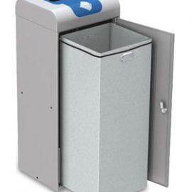 papelera reciclaje con puerta cubeto