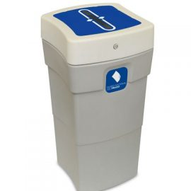 papelera documentos confidenciales plástico