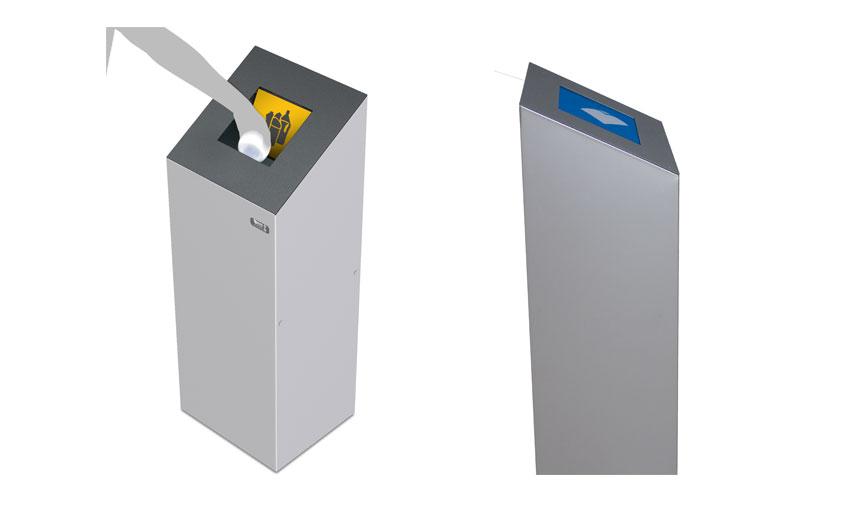 papelera reciclaje tapa autocierre