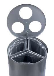 detalle boca papelera reciclaje