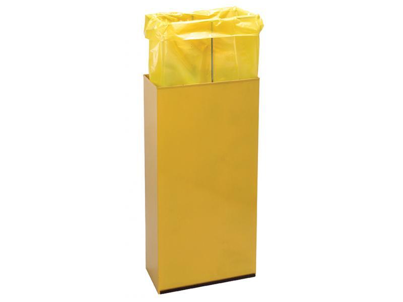 detalle papelera reciclaje aro sujetabolsas