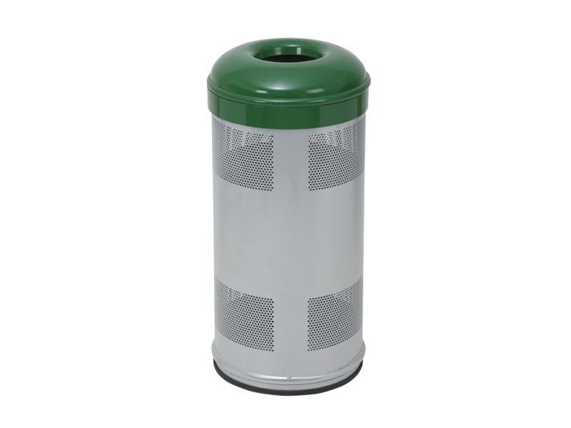 papelera circular verde