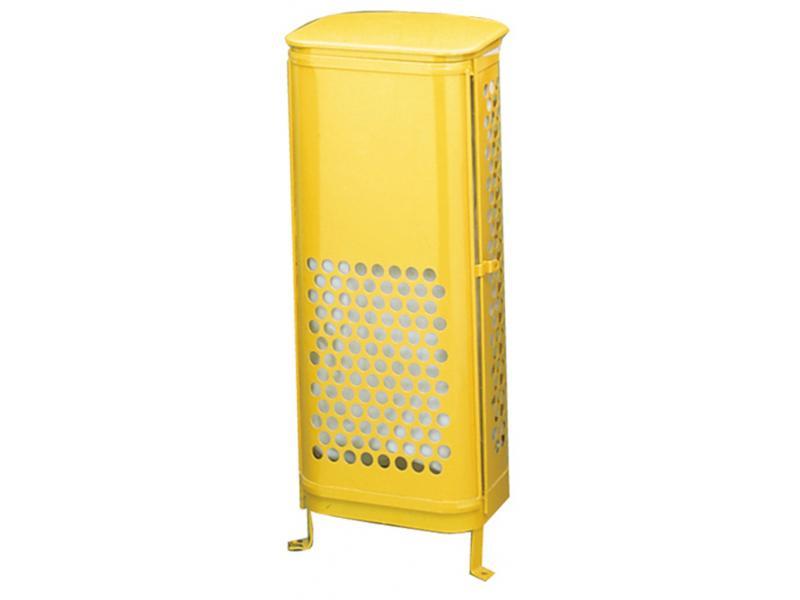 papelera con puerta frontal amarillo