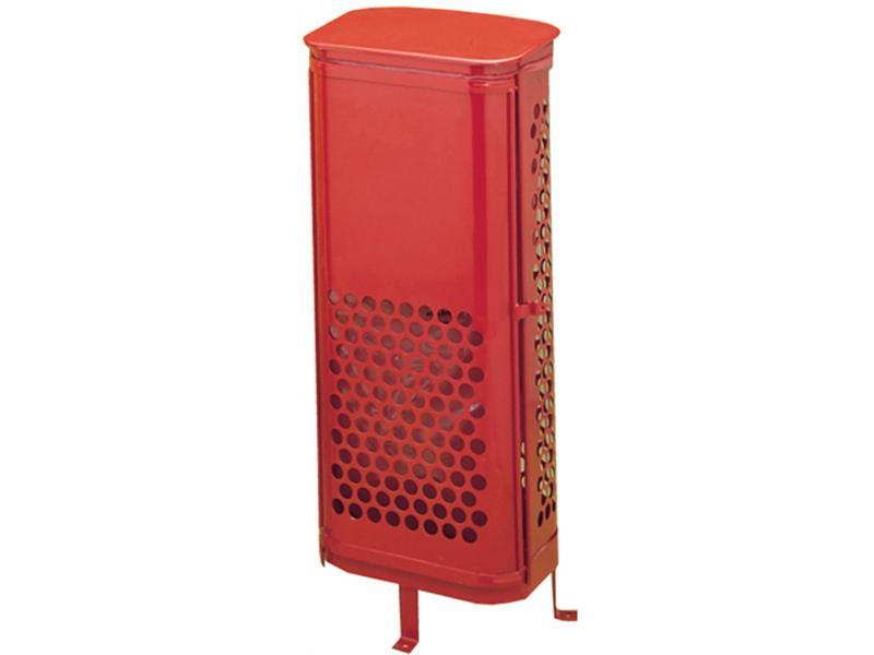 papelera con puerta frontal rojo