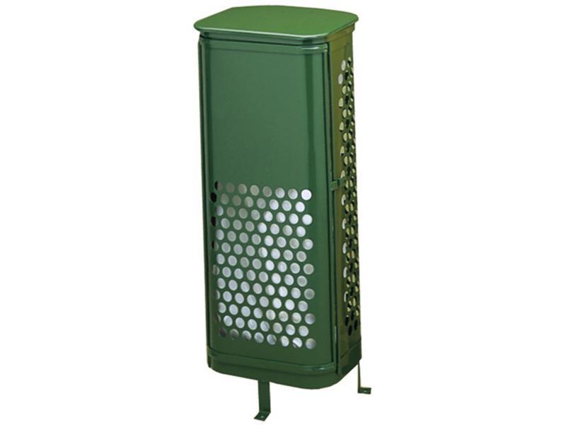 papelera con puerta frontal verde