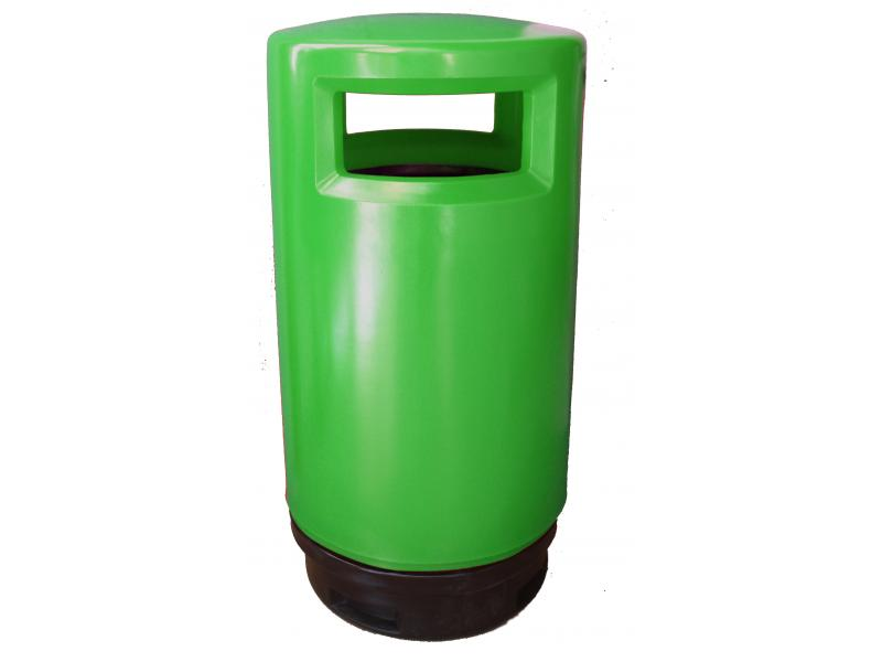 papelera reciclaje exterior polietileno verde
