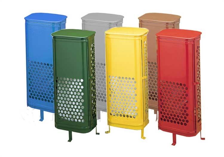 papeleras reciclaje con puerta exterior colores