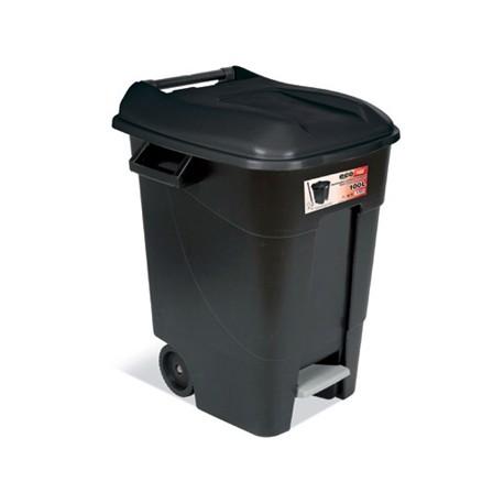 contenedor movil con pedal litros negro