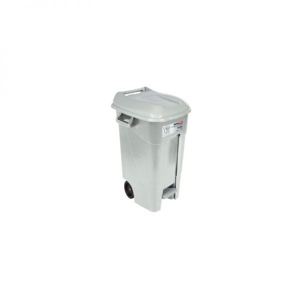 contenedor movil con pedal  gris