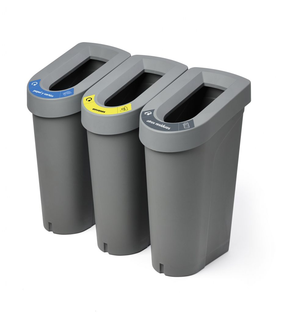 isla reciclaje triple