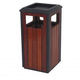 papelera cenicero madera