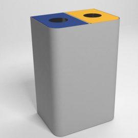 papelera reciclaje doble