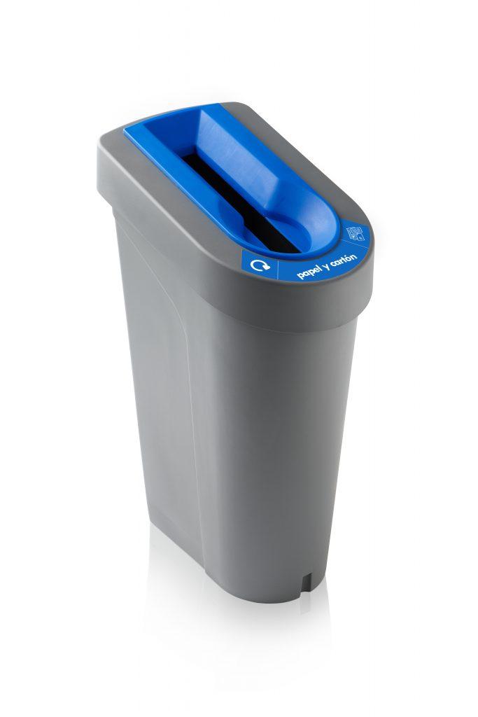 papelera reciclaje selectiva papel lateral