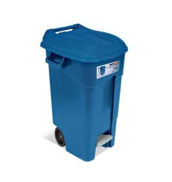 papeleras reciclaje pedal  azul