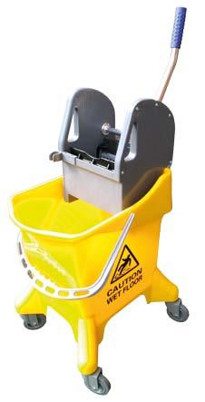 cubo con prensa  litros amarillo