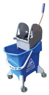 cubo con prensa  litros azul