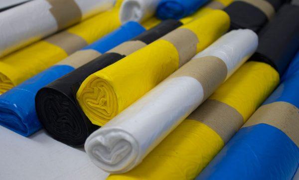 bolsas de plástico reciclaje colores