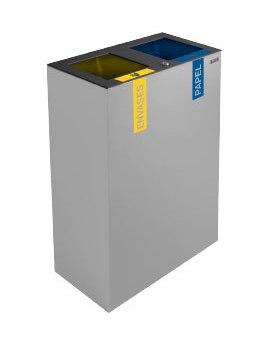 papelera de reciclaje doble