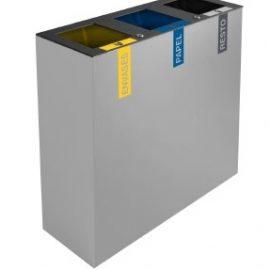 papelera de reciclaje triple