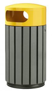 papelera listones reciclado amarillo