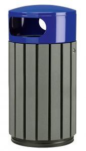 papelera listones reciclados azul