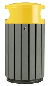 papelera listones reciclados trasera