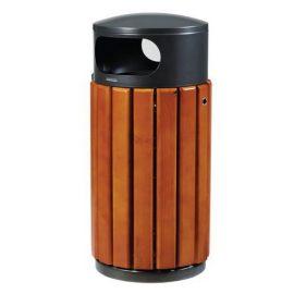 papelera madera reciclaje litros
