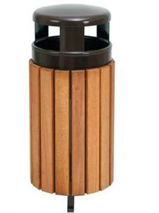 PApelera de madera de reciclaje